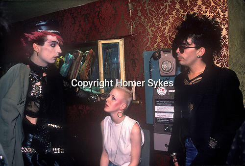 Titanic Club London 1983. New Romantics,  during the early 1980s there was blending of the Punk fashion, spiky hair and chains and the softer look of the New Romantics.