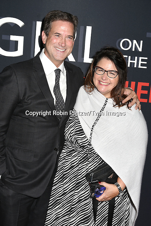 """Michael Wright and Holly Bario attend """"The Girl on the Train"""" New York Premiere on October 4, 2016 at Regal E-Walk Stadium 13 & RPX  in New York,New York,  USA.<br /> <br /> photo by Robin Platzer/Twin Images<br />  <br /> phone number 212-935-0770"""