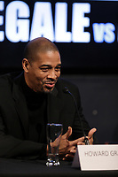 Boxer Lucian Bute's  trainer Howard Grant attend the Montreal news conference for the upcoming Badou Jack v Lucian Bute in Washington this month, Wenesday, April 6, 2016.<br /> <br /> Photo : Pierre Roussel<br /> - Agence Quebec Presse
