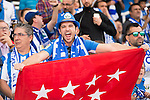 Supporters of Deportivo Leganes during their La Liga match between Deportivo Leganes and FC Barcelona at the Butarque Municipal Stadium on 17 September 2016 in Madrid, Spain. Photo by Diego Gonzalez Souto / Power Sport Images