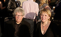 September 3rd, 2007 File Photo - Claude Miller, filmmaker (L)  and Christine Saint-Pierre, Minister Communications and Cultural Affairs (R)  at the closing of (Montreal) World Film Festival.