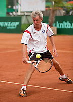 Netherlands, Amstelveen, August 21, 2015, Tennis,  National Veteran Championships, NVK, TV de Kegel,  Piet Boverhof<br /> Photo: Tennisimages/Henk Koster