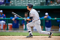 Kane County Cougars right fielder Billy Endris (8) follows through on a swing during a game against the South Bend Cubs on May 3, 2017 at Four Winds Field in South Bend, Indiana.  South Bend defeated Kane County 6-2.  (Mike Janes/Four Seam Images)