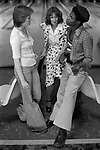 Group of teenagers hanging out in bowling alley Stevenage Hertfordshire 1970s England