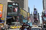 Destiny Moore graces a Times Square billboard.