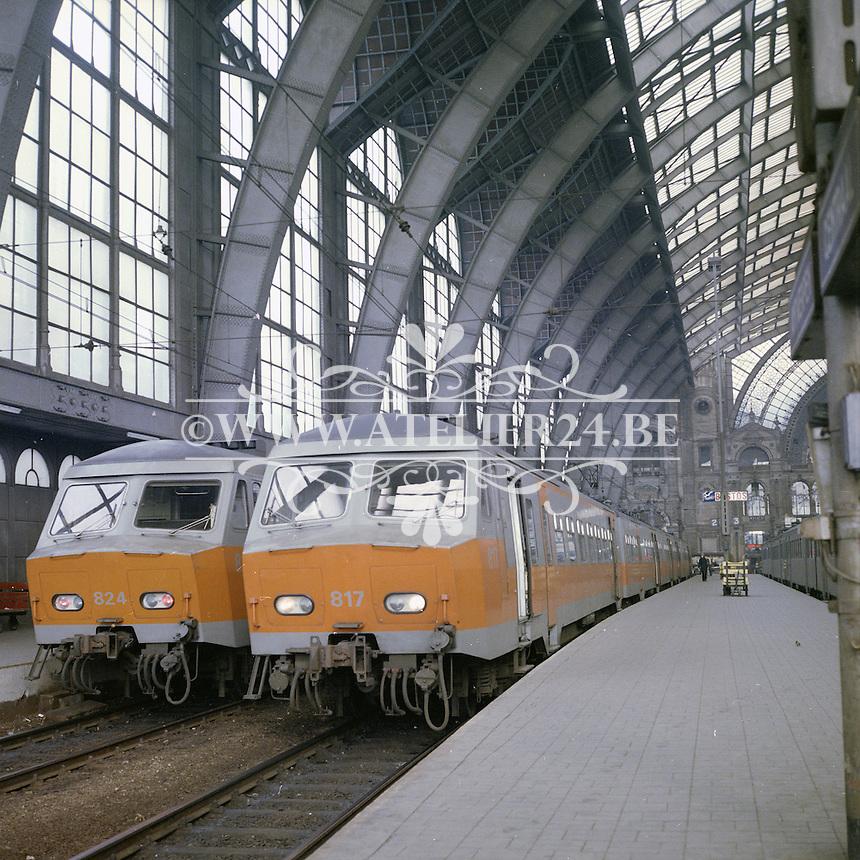 Februari 1978. Centraal Station in Antwerpen.