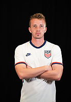 Jackson Yueill during a portrait studio session for the U23 Olympic Qualifying team 2021.