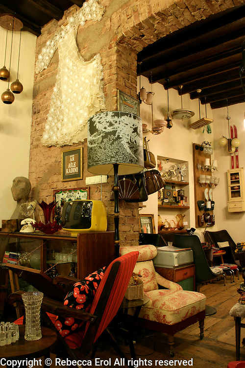 Vintage antique shop in Cukurcuma, Beyoglu, Istanbul, Turkey