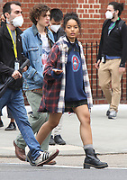 NEW YORK, NY- May 03: Whitney Peak on the set of the HBO Max series Gossip Girl on May 3, 2021 in New York City. <br /> CAP/MPI/RW<br /> ©RW/MPI/Capital Pictures