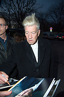 November 9 2017, PARIS FRANCE<br /> David Lynch, American director and photographer is the Guest of Honor of Paris Photo 2017 at the Grand Palais on Avenue du GÈnÈral Eisenhower. He signs autographs<br /> for his fans.