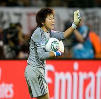 Ayumi Kaihori.  Japan won the FIFA Women's World Cup on penalty kicks after tying the United States, 2-2, in extra time at FIFA Women's World Cup Stadium in Frankfurt Germany.