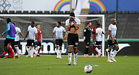 Swansea City's Ben Cabango looks dejected at the final whistle<br /> <br /> Photographer Ian Cook/CameraSport<br /> <br /> The EFL Sky Bet Championship - Swansea City v Huddersfield Town - Saturday 17th October 2020 - Liberty Stadium - Swansea<br /> <br /> World Copyright © 2020 CameraSport. All rights reserved. 43 Linden Ave. Countesthorpe. Leicester. England. LE8 5PG - Tel: +44 (0) 116 277 4147 - admin@camerasport.com - www.camerasport.com