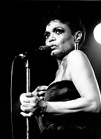 Eartha Kitt perform June 7, 1984 at Club Soda in Montreal, Canada<br /> <br /> Photo : Denis Alix - Agence Quebec Presse
