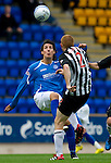 St Johnstone v Dunfermline... 13.08.11   SPL Week 4.Fran Sandaza and Jason Thomson.Picture by Graeme Hart..Copyright Perthshire Picture Agency.Tel: 01738 623350  Mobile: 07990 594431