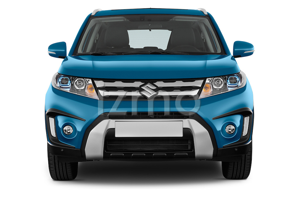 Car photography straight front view of a 2015 Suzuki Vitara Lux Extra 5 Door SUV
