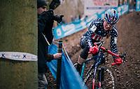 US national champion COMPTON Katie (USA/KFC Racing p/b Trek/Panache)<br /> <br /> Brussels Universities Cyclocross (BEL) 2019<br /> Women's Race<br /> DVV Trofee<br /> ©kramon