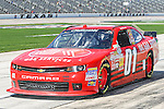 Nationwide Series driver Mike Wallace (1) in action during the NASCAR Nationwide Series qualifying at Texas Motor Speedway in Fort Worth,Texas.