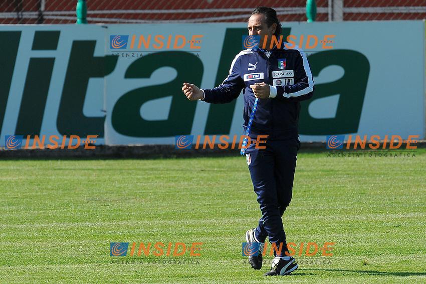 """Cesare PRANDELLI.Roma 14/11/2011 Centro sportivo """"La Borghesiana"""".Football Calcio .Allenamento Nazionale Italiana - Training.Foto Insidefoto Andrea Staccioli"""