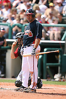 March 23rd 2008:  Corky Miller of the Atlanta Braves during a Spring Training game at Osceola County Stadium in Kissimmee, FL.  Photo by:  Mike Janes/Four Seam Images