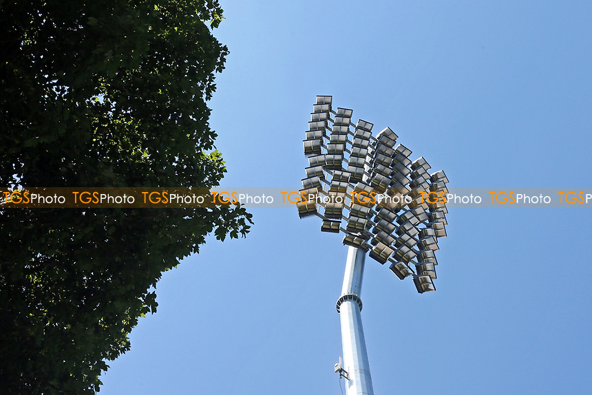 General view of a floodlight ahead of Essex Eagles vs Middlesex, Vitality Blast T20 Cricket at The Cloudfm County Ground on 18th July 2021