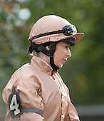 From across the pond, Hayley Turner, who rode Irish-bred I'm A Dreamer to a fourth place finish in the Flower Bowl.