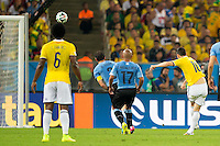 James Rodriguez of Columbia scores a goal to make it 1-0