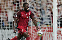 Orlando, FL - Friday Oct. 06, 2017: Jozy Altidore scores during a 2018 FIFA World Cup Qualifier between the men's national teams of the United States (USA) and Panama (PAN) at Orlando City Stadium.