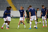 GUADALAJARA, MEXICO - MARCH 24: USMNT U-23 players warm up before a game between Mexico and USMNT U-23 at Estadio Jalisco on March 24, 2021 in Guadalajara, Mexico.