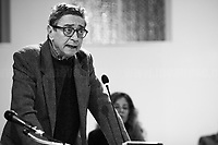 """Saverio Lodato.<br /> <br /> Rome, 08/02/19. Moby Dick Library in Garbatella & Antimafia Duemila(2.) held the presentation of the book """"Il Patto Sporco"""" (The Dirty Pact. The Trial State-mafia in the Story [narrated] by his Protagonist, Chiarelettere,1.) hosted by the author of the book Saverio Lodato (Journalist & Author), Antonino 'Nino' Di Matteo (Protagonist of the book, Antimafia Magistrate of Palermo, member of the DNA - Antimafia & Antiterrorism National Directorate - who """"prosecuted the Italian State for conspiring with the Mafia in acts of murder & terror"""",3.4.5.6.) & Giorgio Bongiovanni (Editor of Antimafia Duemila). Chair of the event was Silvia Resta (Journalist & Author). Readers were: Bianca Nappi & Carlotta Natoli (both Actresses). From the back cover of the book: """"Let us ask ourselves why politics, institutions, culture, have needed the words of judges to finally begin to understand…A handful of magistrates and investigators have shown not to be afraid to prosecute the [Italian] State. Now others must do their part too"""" (Nino Di Matteo). """"In the pages of this book I wanted the magistrate, the man, the protagonist and the witness to speak about a trial destined to leave its mark"""" (Saverio Lodato). From the book online page: """"The attacks to Lima [politician], Falcone & Borsellino [Judges], the bombs in Milan, Florence, Rome, the murders of valiant police commissioners & officers of the carabinieri. The [Ita] State on its knees, its best men sacrificed. However, while the blood of the massacres was still running there were those who, precisely in the name of the State, dialogued and interacted with the enemy. The sentence of condemnation of Palermo [""""mafia-State negotiation"""" trial which is told in the book], against the opinion of many 'deniers', proved that the negotiation not only was there but did not avoid more blood. On the contrary, it provoked it""""(1.).<br /> Footnotes & links provided at 2nd & last page."""