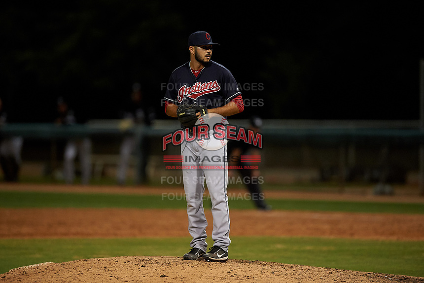 AZL Indians Blue relief pitcher Nate Ocker (69) during an Arizona League game against the AZL White Sox on July 2, 2019 at Camelback Ranch in Glendale, Arizona. The AZL Indians Blue defeated the AZL White Sox 10-8. (Zachary Lucy/Four Seam Images)