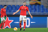 18th February 2021, Rome, Italy;   Adel Taarabt of SL Benfica during the UEFA Europa League round of 32 Leg 1 match between SL Benfica and Arsenal at Stadio Olimpico, Rome, Italy on 18 February 2021.