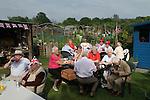 Queen Elizabeth ii Diamond Jubilee allotment party. Paddock Allotments, Cannon Hill Common, Merton SW London.