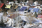 COLORFUL HOMES AMIDST HEAVY SNOW IN OURAY COLORADO