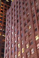 AVAILABLE FROM JEFF FOR EDITORIAL LICENSING.<br /> <br /> Detail of The Paramount Building at Night  Illuminated by the Lights of Times Square, 7th Avenue in Times Square, Midtown Manhattan, New York City, New York State, USA