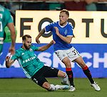 22.08.2019 Legia Warsaw v Rangers: Scott Arfield and Luis Rocha