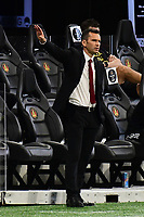 ATLANTA, GA - AUGUST 29: Atlanta United manager Stephen Glass directs his team during a game between Orlando City SC and Atlanta United FC at Marecedes-Benz Stadium on August 29, 2020 in Atlanta, Georgia.
