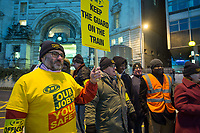 RMT strikes over safety and proposed removal of guards from the trains. Picket Lines at Waterloo (twilights) and Victoria (with flags). 8-1-18