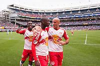 BRONX, NY - Saturday May 21, 2016: New York City FC takes on rivals the New York Red Bulls at home at Yankee Stadium in regular season MLS play.