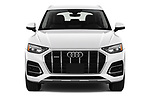 Car photography straight front view of a 2021 Audi Q5 Premium 5 Door SUV Front View