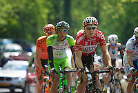Pim Ligthart (NLD/Lotto-Belisol) with the breakaway group on the Loorberg<br /> <br /> Amstel Gold Race 2014