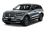 2021 Lincoln Aviator - 5 Door SUV Angular Front automotive stock photos of front three quarter view