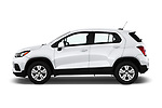 Car driver side profile view of a 2020 Chevrolet Trax LS 5 Door SUV