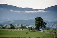stretched peloton<br /> <br /> Stage 6: Saint-Vulbas to Saint-Michel-de-Maurienne (228km)<br /> 71st Critérium du Dauphiné 2019 (2.UWT)<br /> <br /> ©kramon