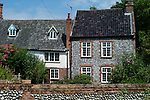 England,Norfolk,Matlaske,Flint Cottages