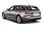 Car pictures of rear three quarter view of a 2018 Jaguar XF Sportbrake R Sport 5 Door Wagon angular rear