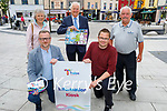 Billy Nolan , Tralee Chamber Alliance and volunteers launching the Tralee Information Kiosk on Friday. Kneeling l to r: Ken Tobin (CEO of Tralee Chamber of Alliance) and David Scott (Tralee Chamber). Standing l to r: Breda Walshe, Billy Nolan and Sean Lyons.