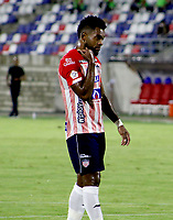 BARRANQUILLA-COLOMBIA, 07-10-2020: Miguel Angel Borja de Atletico Junior, durante partido entre Atletico Junior y Deportivo Pasto, de la fecha 12 por la Liga BetPlay DIMAYOR 2020-I jugado en el estadio Romelio Martinez de la ciudad de Barranquilla. / Miguel Angel Borja of Atletico Junior, during a match between Atletico Junior and Deportivo Pasto of the 12th date for the BetPlay DIMAYOR Leguaje 2020-I played at the Romelio Martinez Stadium in Barranquilla city. / Photo: VizzorImage / Jairo Cassiani / Cont.