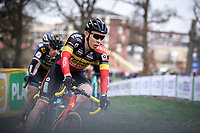 Belgian National Champion Laurens Sweeck (BEL/Pauwels Sauzen - Bingoal). <br /> <br /> Men Elite Race<br /> UCI Cyclocross Worldcup – Hoogerheide (Netherlands)<br /> <br /> ©kramon