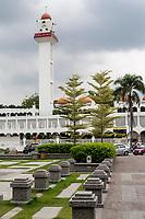 Ipoh, Malaysia.  Minaret and Masjid (Mosque) Sultan Idris Shah II,  Masjid Negeri Perak.