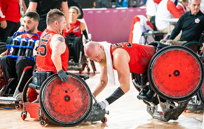 Zachary Madell, Lima 2019 - Wheelchair Rugby // Rugby en fauteuil roulant.<br /> Canada takes on Argentina in wheelchair rugby // Le Canada affronte l'Argentine au rugby en fauteuil roulant. 23/08/2019.
